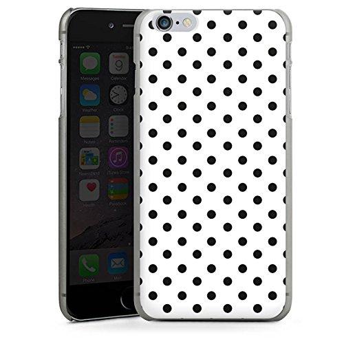 Apple iPhone 6 Housse Étui Silicone Coque Protection Polka points Noir et blanc Motif CasDur anthracite clair