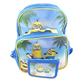 Taschen Kindergarten 3er Set Minions 3D Rucksack Umhängetasche Brustbeutel 3-teilig