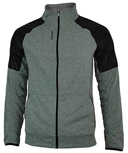 Reebok SE Fabmix Track Jacket Herren PlayDry Slim Fit Trainingsjacke Grau, Grösse:M