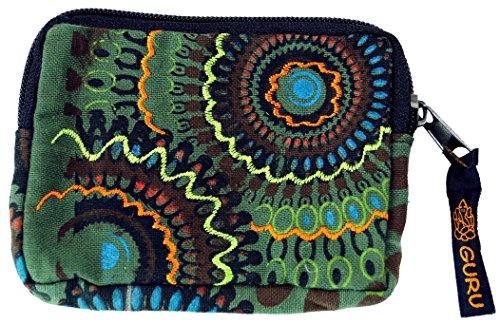 Guru-Shop Portemonnaie `Ethno` in Verschiedenen Farben, Herren/Damen, Olive, Baumwolle, 8x12 cm, Portemonnaies aus Stoff