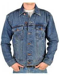 Wrangler veste en jean mid stone