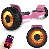 GeekMe Off-Road Hoverboard Elektroroller 8.5 '' SUV Hummer Gelände intelligenter Self Balance Scooter Fantastische LED-glühende Räder mit Bluetooth-Funktion
