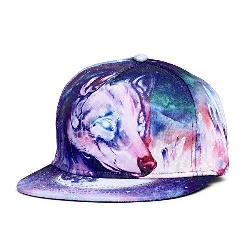Q.KIM Adult Damen und Herren Fashion Baseball Cap Verstellbar Baseballmütze Hysteresen-3D-Druck Kappen Hip Hop Hüte Sun (Tänzer Hip Kostüm Hop)