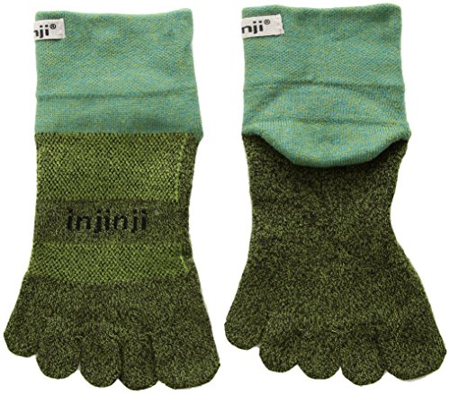 Injinji Traill Mid-Weight mini-crew xtralife Pine L (44,5-47) Zehensocken - Mini-zehen-socken