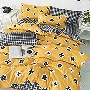 DEALS FOR LESS - Duvet Cover, Bedding Set, Yellow Flower Design