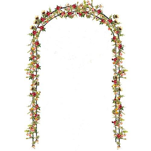 Pairka aco da giardino forma a torre arco sostegno per piante rampicanti in metallo arredo giardino decorazioni (arco da giardino)
