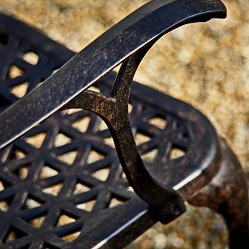 Lazy Susan - ALICE 120 cm Runder Gartentisch mit 4 Stühlen