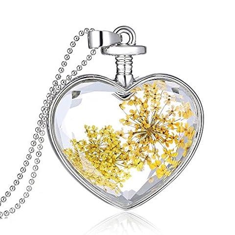 Nouvelle Arrivée Or Daisy Sec Argent Perles Mini Chaîne Collier Fleur Pour Cadeau De Noël Femmes