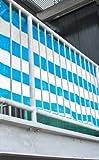 3 x Sichtschutz blau 500x90 cm (2 EUR / 1 m²)