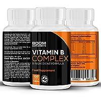 Vitamina B Complex   Complejo de vitamina B altamente efectivo   120 potentes tabletas   Dosis COMPLETA por 4 meses   Contiene las 8 vitamina B   Garantía total de devolución del dinero por 30 días