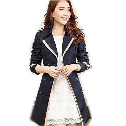 Ladies Womens Fashion Trench Coat Mac Jacket Beige Black
