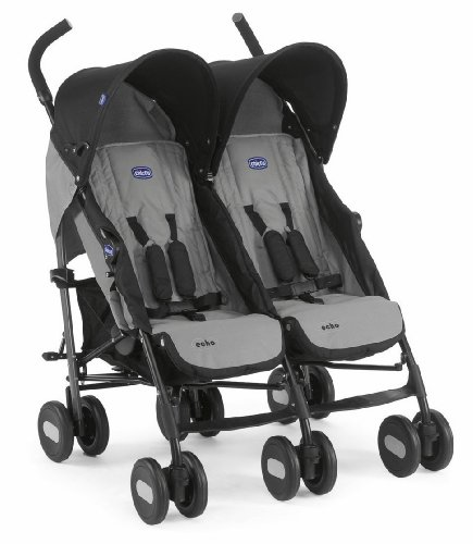 Chicco Echo Twin Stroller Coal - Black Best Price and Cheapest