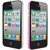 Ozaki iCoat Bling Bling IC856B Bumper Sticker de Protection pour iPhone 4S Rose / Gris