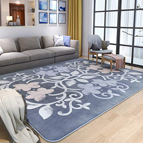 Home mall- Klassischer Quadratischer Teppich | Teppich-geometrische Muster Kurze Pile Rutschfest waschbar für Wohnzimmer Schlafzimmer 13mm (Farbe : Color#1, größe : 200X240cm)