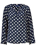 CONLEYS BLUE Damen Bluse mit Allover-Print Äpfel 38