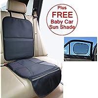 Baby-Tappetino proteggi sedile per seggiolino __in pelle per il seggiolino __100% rimborso garantito e include-Parasole da auto per bambini