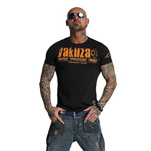 Yakuza Herren Oberteile / T-Shirt Brass Knuckles Crew Schwarz