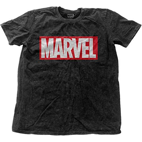 Marvel Comics Herren T-Shirt Marvel Vintage Logo schwarz - Vintage Shirt Spiderman
