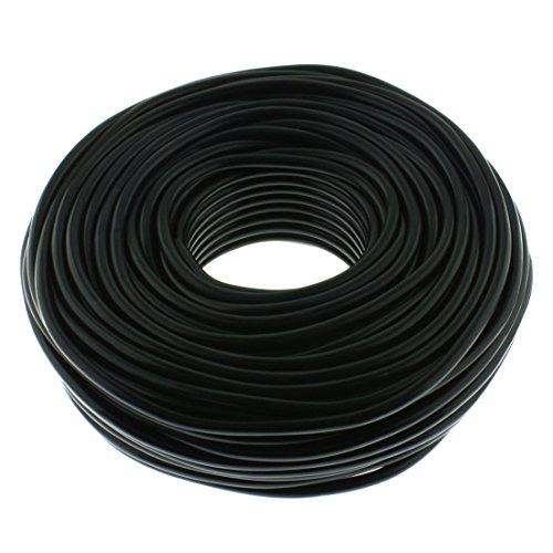 Lautsprecherkabel RUND 2x1,5mm² - schwarz - 50m - CCA - PA Installationskabel - Audiokabel - Boxenkabel