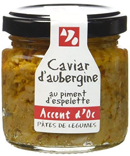 Accent d'Oc Caviar d'Aubergine au Piment d'Espelette 90 g - Lot de 2