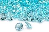 ILOVEDIY 2000 Stück Dekosteine türkis 4,5mm Diamanten Acryl Tischdeko Hochzeit