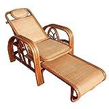 Folding chair LVZAIXI Vero sedia a sdraio in rattan Sedia pieghevole sedia a sdraio spiaggia sedia Siesta poltrona reclinabile sedia di vimini pieghevole