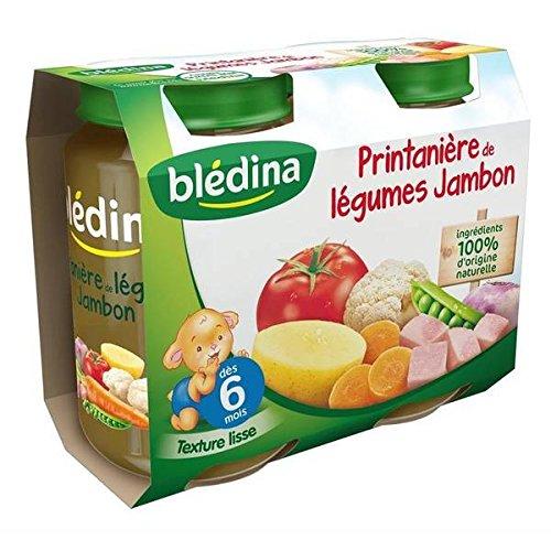 Bledina Pots Sales Printaniere Legumes Jambon 2X200G 6 mois - ( Prix Unitaire ) - Envoi Rapide Et Soignée