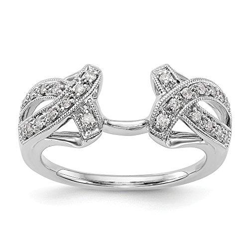 Ringschutz, 14 Karat Weißgold, Diamant (0,204 Karat, H-SI2) -