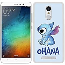 FUNDA CARCASA PARA Xiaomi Redmi Note 3 Pro STITCH OHANA BORDE BLANCO