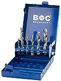 Bohrcraft Kombi-Gewindebohrer Bits 7-teilig M3-M10 mit Halter in blauer Metall-Mini-Box MB 7, 1 Stück, 41711410007