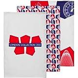 Premier Housewares - Paño 60 x 40 x 1cm (juego de 3)  - 100.00% Algodón - london collection