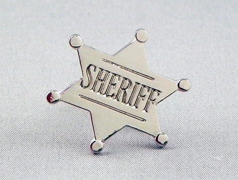 En métal émaillé Motif Wild West Sheriff Sherrif Star (finition chromée)