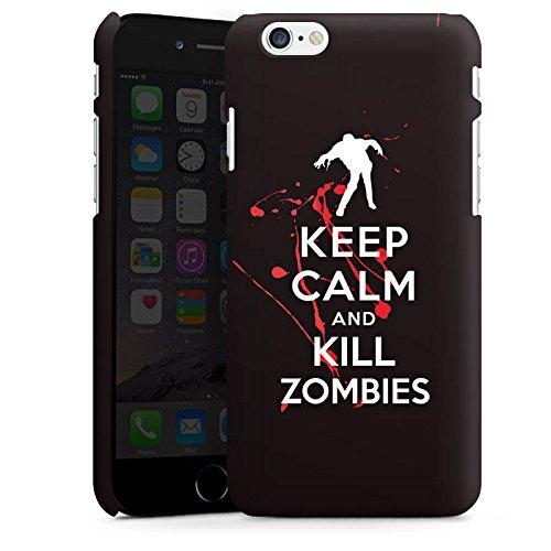 Apple iPhone X Silikon Hülle Case Schutzhülle Keep Calm Zombies Blut Premium Case matt
