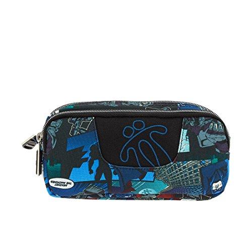 Estuche escolar de la colección Ecole con doble compartimento, fuertes cremalleras y bolsillo interior con velcro.