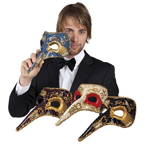 änner Kostümzubehör: Venezianische Maske mit Nase, Blau (Schwein Mit Make-up)