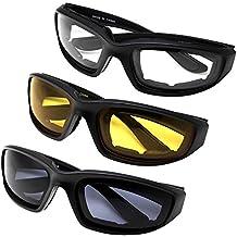 Yooyee Gafas para Moto y Montar, 3 Piezas de Gafas Para Ciclistas Todo Tiempo Para