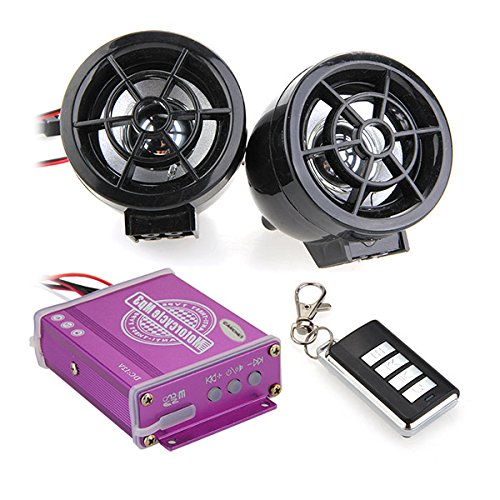 Universal Motorrad Wasserdichte Audio Remote Sound system Alarmanlagen TF Karte FM MP3 UKW Radio mit Fernbedienung