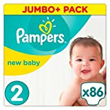 Pampers New Baby Size 2 Jumbo+ Pack 86 Nappies