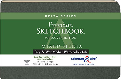 Delta Softcover Sketchbook 8.5X5.5 Ls by Stillman & Birn - And Birn-delta Stillman