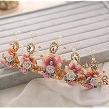 Los accesorios semicirculares de la boda del aro del color de la corona 10 * 25cm del diamante del tocado de la novia