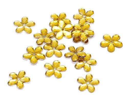 120 Stk. Spiegelblumen / Spiegelstreu GELB (12 mm / lose zum kleben) TOP QUALITÄT