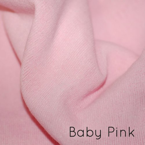 Neotrims Baumwolle Mix Lycra Typ Stretch Knit Rib Gewebe, um Kleidungsstücke, Gurtbänder, Manschetten und Rahmen. Leicht, röhrenförmige Jersey Material für Apparel. Belastbar, weiche natürliche Baumwolle Feel. Schwarz, grau, anthrazit, navy und Creme Farben. Tolles Preis. Erhältlich in 1Meter und die Hälfte Meter Option. 1 Meter babyrosa (Baumwolle-jersey Ribbon-aus Pink)