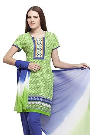 Ethnic Label Women's Cotton Anarkali Suit