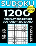 Sudoku Book 1,200 Puzzles, 300 Easy, 300 Medium, 300 Hard and 300 Extra Hard: Sudoku Puzzle Book With Four Levels of Difficulty To Improve Your Game: Volume 43 (Sudoku Book Series 2)