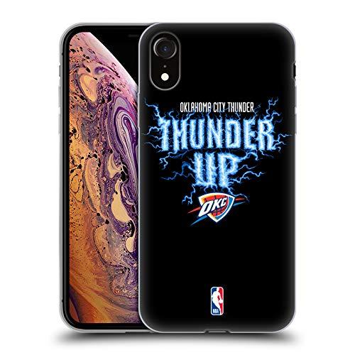 Head Case Designs Offizielle NBA Thunder Thunder Up 2018/19 Team Slogan 2 Soft Gel Hülle für iPhone XR - Nba-team Iphone