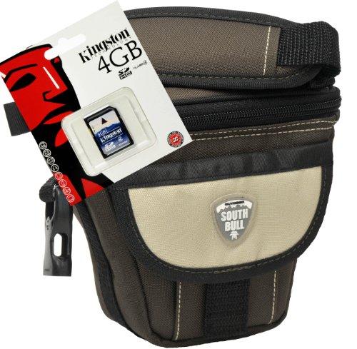 Foto Kamera Tasch Southbull Valley brown M Set mit 4GB SD Karte für Canon SX410 SX420 SX530 SX540 G5 G3 M3