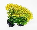 takestop® Koralle aus Kunstharz gelb grün 19x5x15 cm Garten Unterwasserdekoration für Aquarium Dekoration Steine