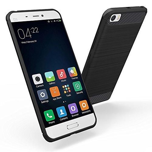 Funda Xiaomi Mi 5, Simpeak Negro Silicona Fundas Xiaomi Mi 5 Carcasa...