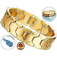 BisLinks® Magnetisch Armband Gold Für Männer & Frau Titatnium Arthritis Carpal Tunnel Therapy Chronic Schmerzen... preisvergleich bei billige-tabletten.eu