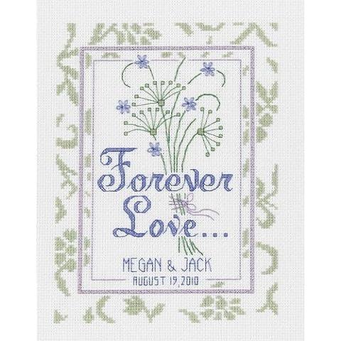 Velas variadas de boda Forever Love - Juego de punto de cruz